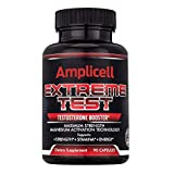 Amplicell Extreme Test | Testosterone Booster | New 2019 Formula | Naturally Boost Metabolism, Endurance and Strength | Supports Healthy Weight Loss | Natural Mood Enhancer | Contains EstroX 90 Count