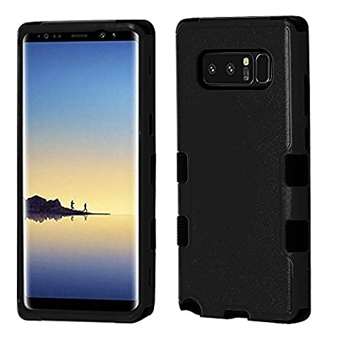 Samsung Galaxy Note 8 - Accessory Bundle: [Military Grade Certified] TUFF Heavy Duty Impact Resistant Case - (Black), Glass Screen Protector, Quick Charge 3.0 Wall Charger, USB-C Cable, Atom (Galaxy Note 8 Bundle)