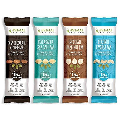Primal Kitchen Grass-fed Collagen Protein Bars Variety Pack of 16