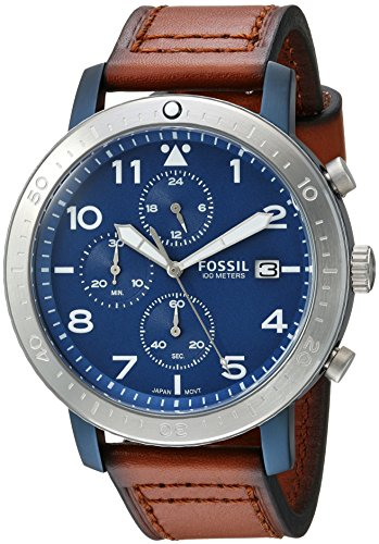 Fossil Men's CH3085 The Major Chronograph Timer Luggage Leather Watch