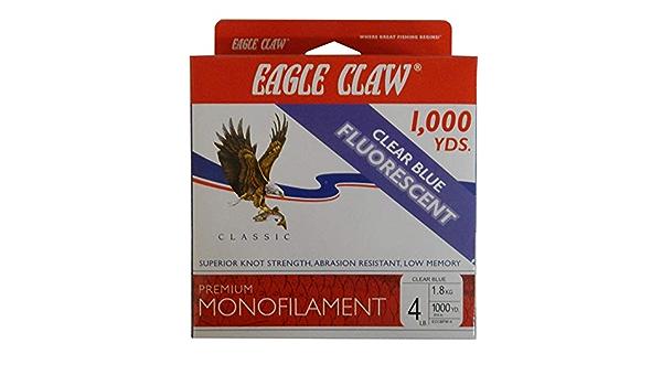 Eagle Claw Premium Monofilament Clear Blue Fluorescent 1000 YD 6 LB