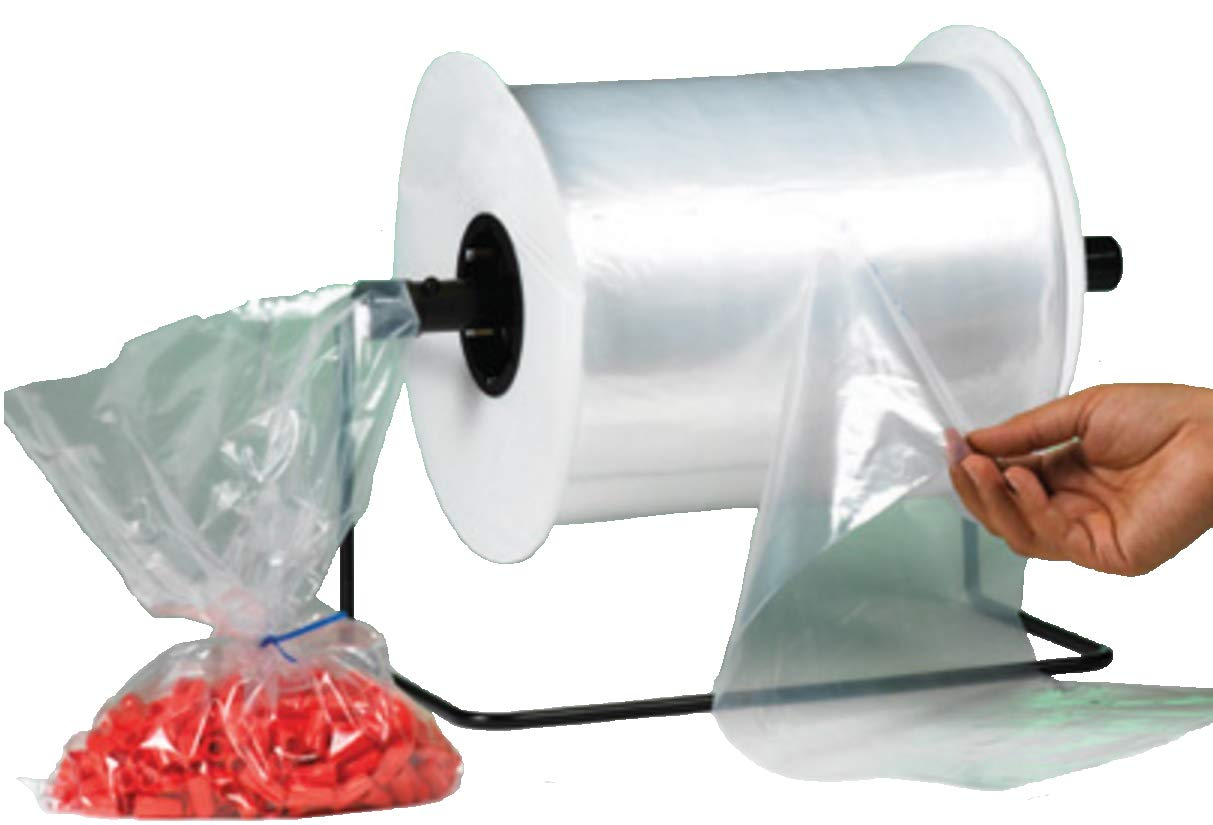 2 Mil Roll of 1000 Bauxko 6 x 12 Poly Bags on a Roll xAB217-Case