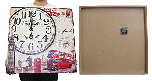 Relogio De Parede Grande Retro Decoracao Inglaterra Vintage (XIN-05)