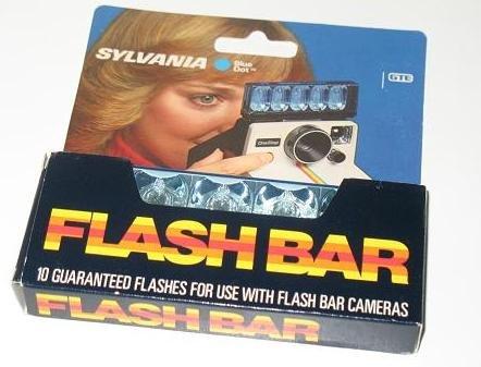 Sylvania Blue Dot Flashbar for Polaroid SX70 Land Camera