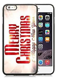 2014 Latest iPhone 6 Plus Case,Merry Christmas Black iPhone 6 Plus 5.5 TPU Case 81