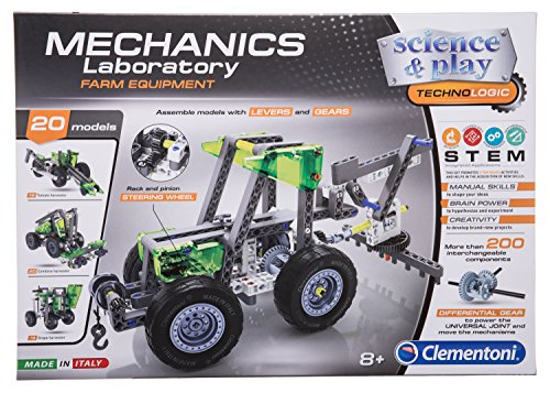 Fun Educational Model Assembly Kit, Farm Equipment, Over 20 Model Configurations, Ages 8 and Up from Clementoni