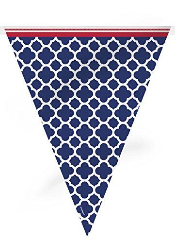 12ft Hamptons Quatrefoil Pennant Banner