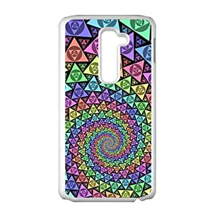 Colorful triangle fractal Phone Case for LG G2