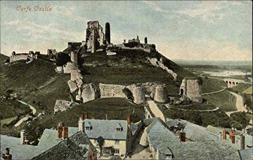 Corfe Castle Corfe, England Original Vintage Postcard - Corfe Castle