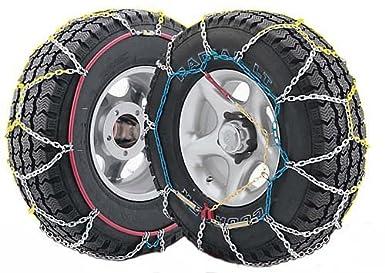 J-4X4 - Juego de dos cadenas de nieve para todo terrenos y SUV talla 380, válidas para neumáticos: 205/75_R14, 205/80_R14, 205/_R14, 215/75_R14, 195/80_R15, ...