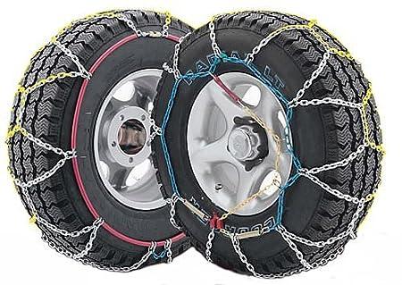 J-4X4 - Juego de dos cadenas de nieve para todo terrenos y SUV talla 450, válidas para neumáticos: 255/75_R15, 265/70_R15, 7.50/_R16, 215/80_R16, ...