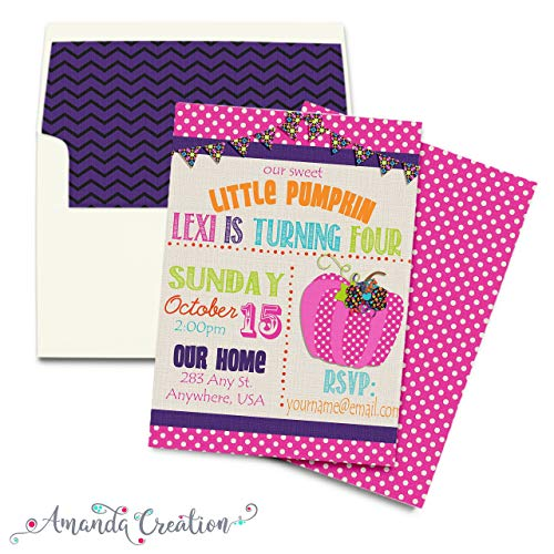 Little Pumpkin Girl Party Invitation