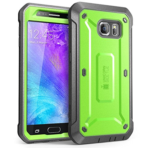 Price comparison product image Galaxy S6 Case, SUPCASE Full-body Rugged Holster Case with Built-in Screen Protector for Samsung Galaxy S6 (2015 Release), Unicorn Beetle PRO Series - Retail Package (Green/Gray)
