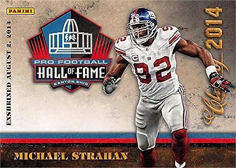 detailed look 45b1d c3a09 Michael Strahan football card (New York Giants) 2014 Panini ...