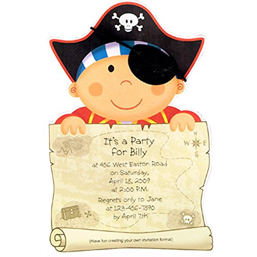 Pirate Party Imprintable Invitations w/ Envelopes (8ct) ()