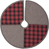 VHC Brands Rustic & Lodge Holiday Decor - Andes Grey Tree Skirt 21 Diameter