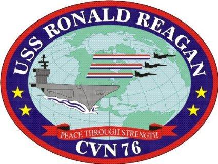- US Navy Ship USS Ronald Reagan CVN-76 Decal Sticker 3.8