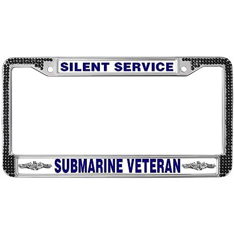 Amazon com: GND License Plate Frame,Silent Service Submarine