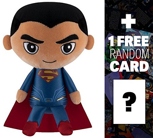 uperman]: Funko Hero Plushies x DC Extended Universe Plush + 1 FREE Official DC Trading Card Bundle (12250) (Man Super Deformed Plush)