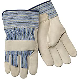 Steiner SPG02-L Leather Palm Work Gloves, Top Grain Cowhide Palm, 2-Inch Safety Cuff, Large (12-Pack)