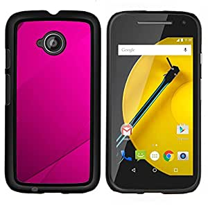 EJOOY---Cubierta de la caja de protección para la piel dura ** Motorola Moto E2 E2nd Gen ** --Purple Azulejos