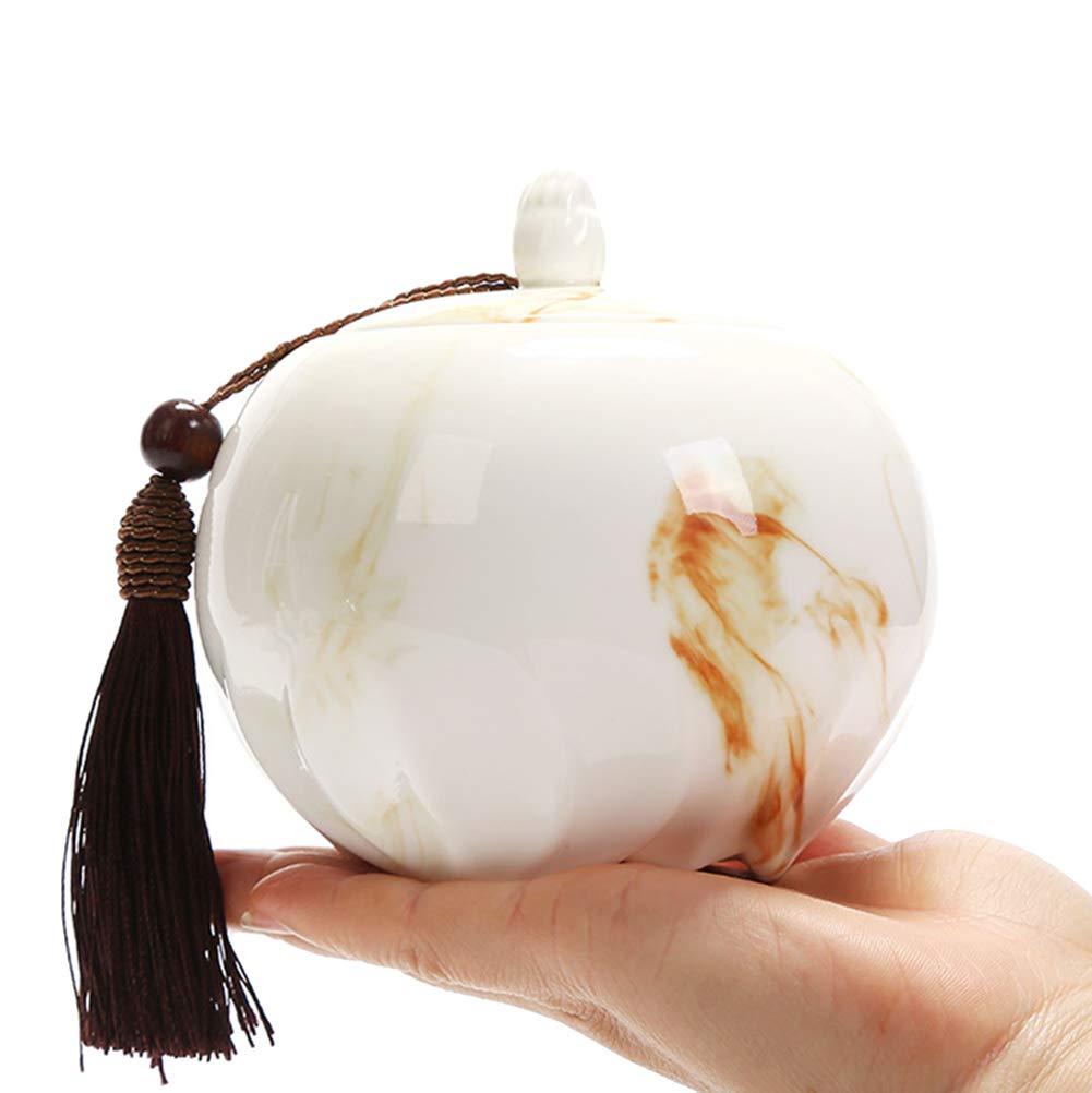 MUJING Urne Funéraire en Céramique Blanche pour Petit Animal [Classe énergétique A]