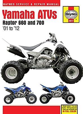 amazon com 2001 2012 yamaha raptor 660 700 atv quad haynes repair rh amazon com 2006 yamaha raptor 700 repair manual Yamaha Raptor 700 OEM Parts