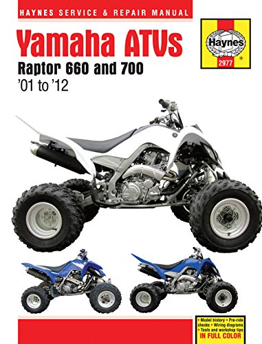 (2001-2012 Yamaha Raptor 660 700 ATV Quad HAYNES REPAIR MANUAL)