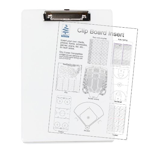 Clipboard, Transparent, Insert, See-thru Insert Documents You Need to See Quickly Between the Transparent Acrylic Sheets for Quick Reference. Both Sides Remain Visible. Dry Erase Compatible (Acrylic Clipboard Clear)