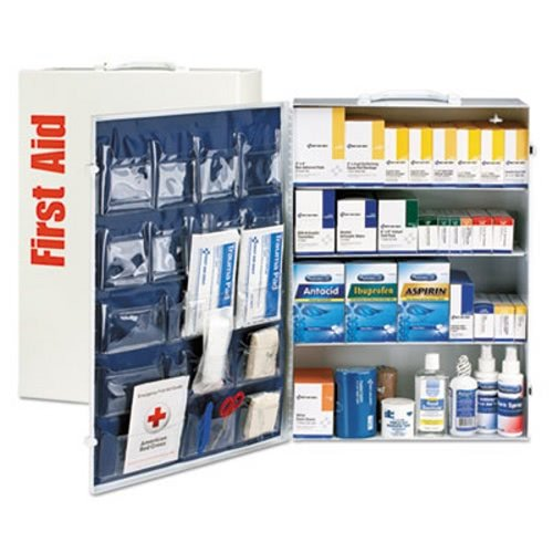 (First Aid Only 90576 ANSI Class B+ 4 Shelf First Aid Station with Medications, 1437 Pieces)
