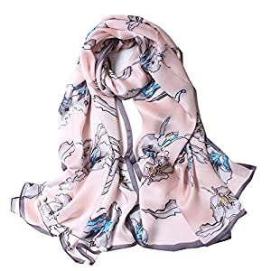 Foulard/Sciarpa 100% Seta per Donna Colore sfumato, Scialle di eleganti ed Moda 70,8″x 27,5″ Dona alla signora un regalo molto buono