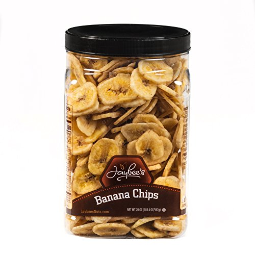 (Banana Chips - Sweetened (20 oz) Fresh, Crisp & Tasty. Perfect for any Occasion- Jaybees)