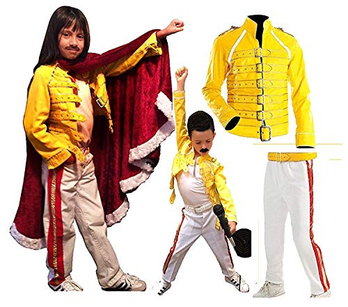 NMFashions Freddie Mercury Costume Kids Freddie Mercury Faux Leather Costume]()