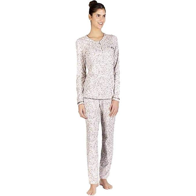 Señoretta Pijama de Mujer en algodón 182107 - Marron, L