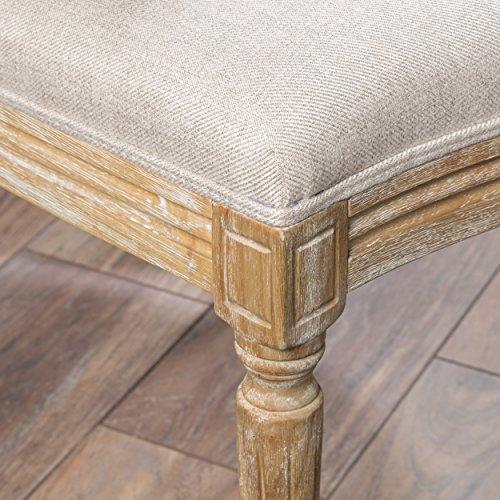 Christopher Knight Home 300258 Phinnaeus Beige Fabric Dining Chair (Set of 2), by Christopher Knight Home (Image #4)