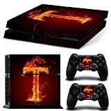Gam3Gear Vinyl Sticker Pattern Decals Skin for PS4 Console & Controller- Flame T For Sale
