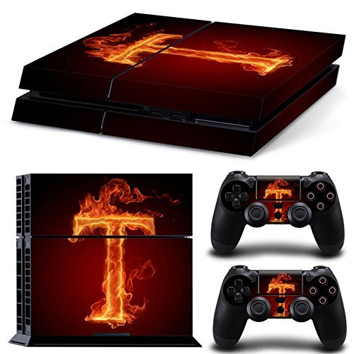Gam3Gear Vinyl Sticker Pattern Decals Skin for PS4 Console & Controller- Flame T