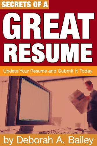 amazon com secrets of a great resume update your resume and submit