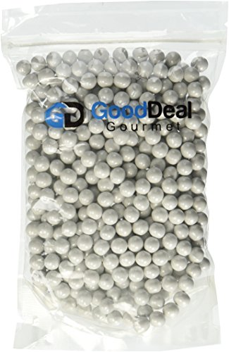 White Pearl Shimmer Sixlets Candy 1LB Bag -