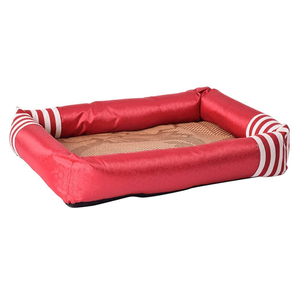 1  75×57×7cm 1  75×57×7cm Pet Bed Pet Bed Doghouse Summer Cool Nest, Pet Doghouse Mat Dog Bed Cat Litter Summer Decontamination Supplies A+ (color   1 , Size   75×57×7cm)