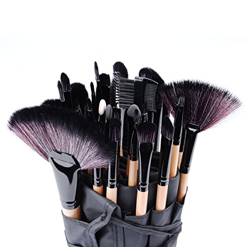 Professional Soft 32 Pcs Wood Vander Makeup Brush Set Cosmetic Eyebrow Shadow Brushes Lip