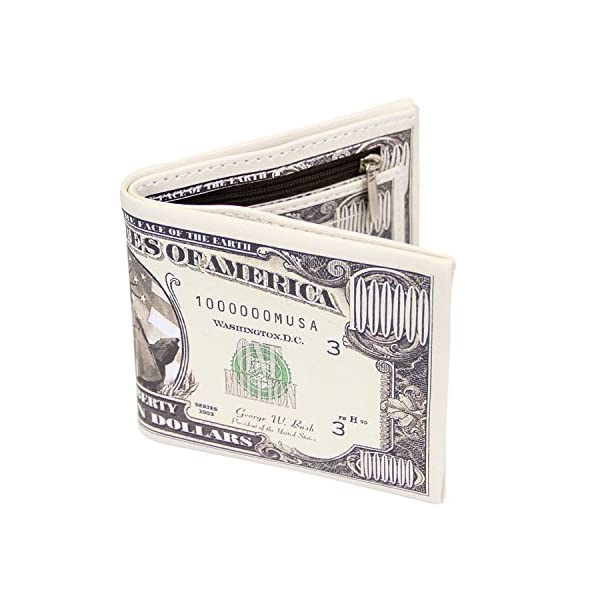 LUI SUI-Men Us Dollar Bill Wallet Billfold Leather Credit Card Photo Holder