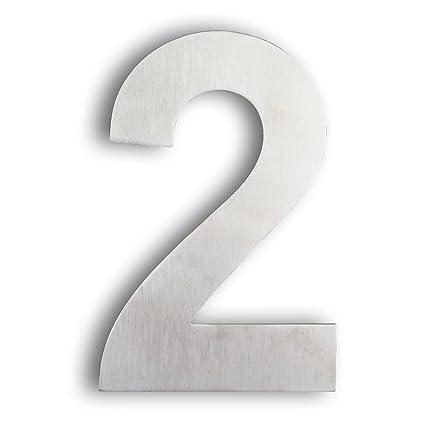 Mellewell StandOff House Number Address Door Numbers Floating - 10 inch metal house numbers