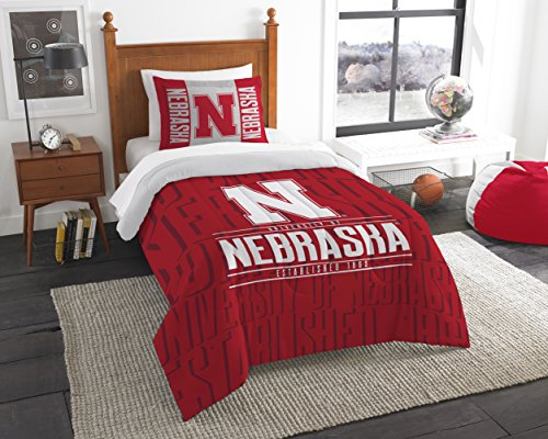 The Northwest Company Officially Licensed NCAA Nebraska Cornhuskers Modern Take Twin Comforter and Sham