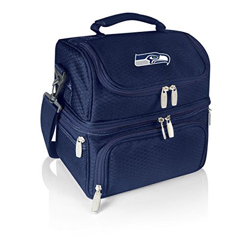 PICNIC TIME NFL Seattle Seahawks Digital Print Pranzo Personal Cooler, One Size, Navy by PICNIC TIME