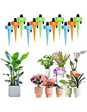 Self Watering Spikes,Suitable for All Bottles,Plant Watering Devices with Slow Release Control Valve,Automatic Plant Water Drip Irrigation Control System,Indoor Outdoor Plants,Vacation Plant Watering