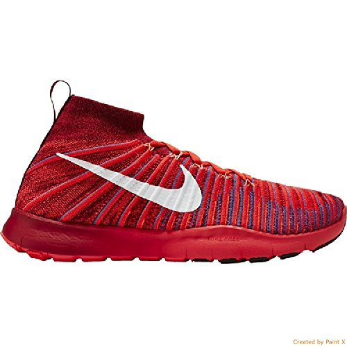 Nike Mens Free Train Force Vliegend / Training Schoenen Team Rood / Wit-helder Crimson-foto Blauw