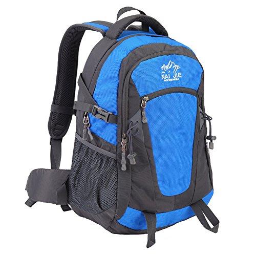 Zwbp BP332 High Capacity Riding Mountaineering Unisex Waterproof Travel Backpack 40L Azure
