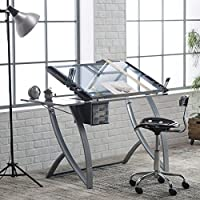 NEW Futura Advanced Drafting Table with Side Shelf Table
