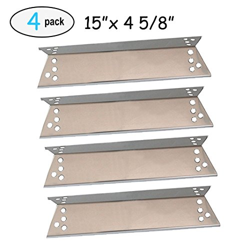 (4-pack Stainless Steel Heat Plates for Charbroil 463411911, 464424312, C-45G4CB, Kenmore Sears, K-Mart, Nexgrill, Tera Gear Model Grills (15